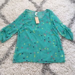Lollipop print sheer blouse 🍭